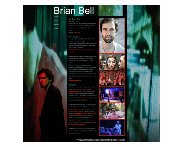 Personal site. Brian Bell, Chicago.